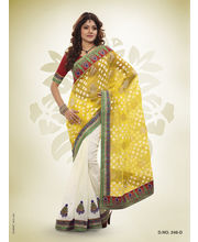Touch Trends Patola Jaquard Designer Sarees - 246_ D, Multicolor