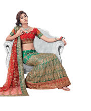Hypnotex Cotton Designer Lengha Choli XLNC8003B, Multicolor