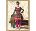 FNF Cotton  Salwar Churidar and Dupatta-10481170, brown