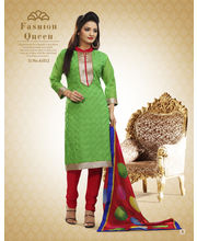 Touch Trends Chanderi Salwar Suit Material - 41012 B, Green