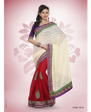 Touch Trends Rachel Viscose & Plain Jute Designer Sarees - 137_ A, Multicolor