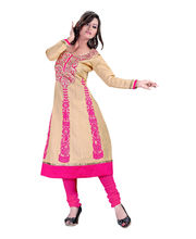 Cotton Bazaar Semi-stiched Salwar Suit - DOLDR1007AC, Multicolor