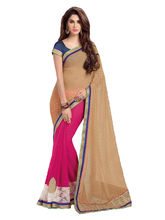 Shonaya Georgette Embroidery Work Saree with Blouse Piece, multicolor