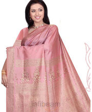 Beautiful Pink Silk Saree