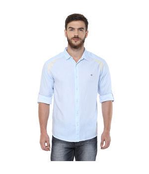 Solid Regular Shirt, s,  sky blue