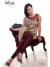 18 Fire Branded Designer Kurti - 911 (Multicolor, L)