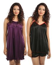 Klamotten Night Dress Combo Of Two Kn-111, multicolor