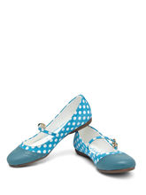 CATWALK Mary Jane Polka Shoes, sky blue, 8