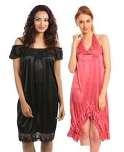 Klamotten Nightdress Combo Of Two Kn-116, Multicolor