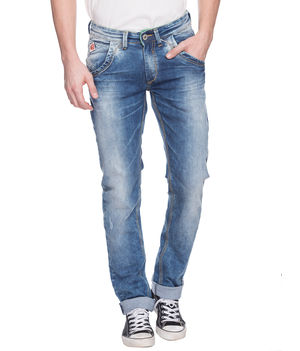 Skinny Low Rise Narrow Fit Jeans, 34,  mid blue