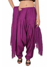 Stylenmart Purple Readymade Patiala With Dupatta Set, purple