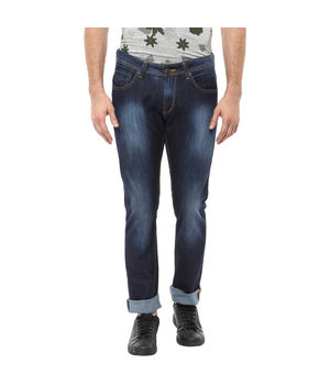 Slim Tapered Fit Jeans, 28,  dark blue
