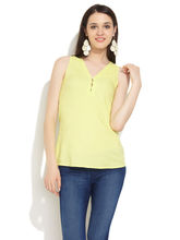 IDK Woman Solid Rayon Top, green, 10