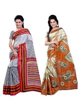 Ambaji Silk Printed Combo of 2 Saree, design3