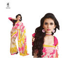Hypnotex Faux georgette Designer Saree - Kaju4714, off white