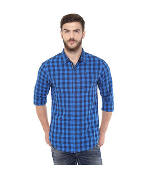Checks Regular Shirt, m,  blue