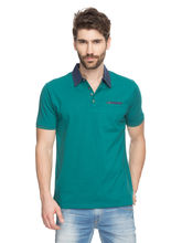 Solid Polo T-Shirt, s, green
