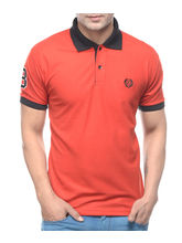 Amaira Men Muscle Fit Polo T-Shirt - WV0013393, red, m