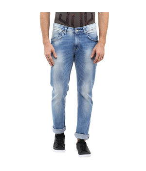 Slim Tapered Fit Jeans, 32,  light blue