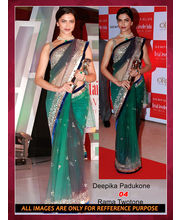 Bollywood Replica Deepika Padukone Net Saree By Ragini Sarees, Multicolor