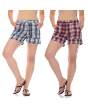 Mind The Gap Pack Of 2 Hot Shorts-SFC-7061_ 7062, Multicolor, 30