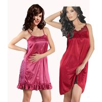 Combo of Two Klamotten Nighties Kn49, multicolor