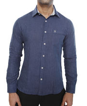 Linen Love Shirt For Men- LSD_ SID, navy blue,...