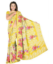 Designer Art Silk Saree With Unstitched Blouse - 28733-YL, Yellow