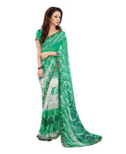 Fabdeal Casual Wear Georgette Saree (LJVSR1347ASE), Sea Green 3ab26f