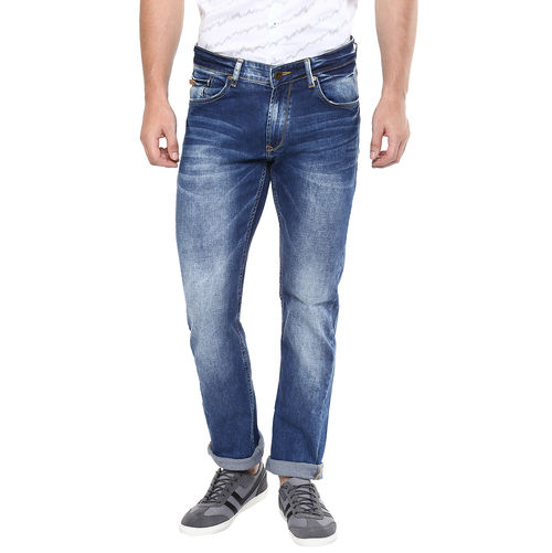 Slim Tapered Fit Jeans, 36,  mid blue