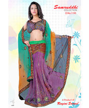 Net Cut Paste Lengha Style Ready To Wear Saree By Ragini Sarees - 1195, multicolor