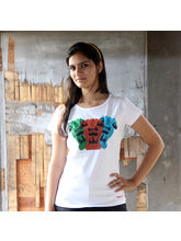The Lions Of Justice In Gond Female T-Shirt, White...