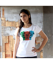 The Lions Of Justice In Gond Female T-Shirt, White, Xl