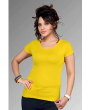 Women Fancy Clifton Plain T-Shirts, yellow, l