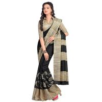 Vamika Bhagalpuri silk Saree,  black