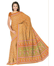 Designer Art Silk Saree With Unstitched Blouse - 29265-OR, Orange
