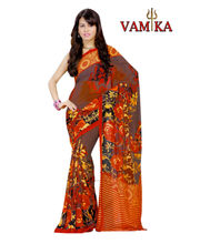 Vamika printed Georgette saree-VMS0088, multicolor