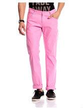 Good Karma Men Cotton Jeans - GKJ840, 30, pink