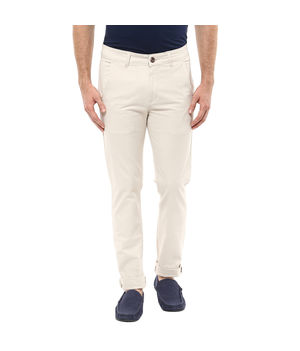 Cross Pocket Slim Fit Trousers,  ivory, 32