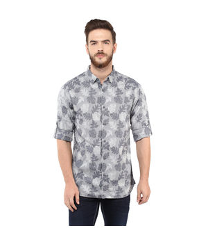 Printed Regular Shirt,  grey, xl