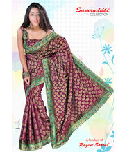 Jacquard Saree By Ragini Sarees - 1196-B, Multicolor