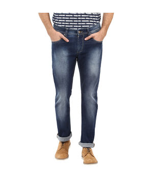Slim Tapered Fit Jeans, 38,  dark blue