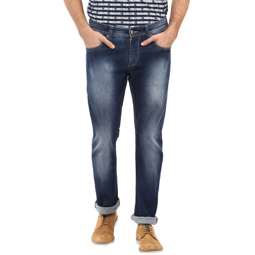 Slim Tapered Fit Jeans,  dark blue, 34