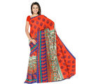 Designer Art Silk Saree With Unstitched Blouse - 30564-OR, orange