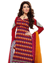 CottonBazaar Party Wear Pure Cotton Semi Stitched Salwar Kameez...