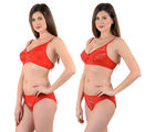 Mynte Bridal Lingerie Set, 32, red and red