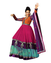 Fabdeal Pure Georgette Unstitched Salwar Suit(CMF204110MA), Multicolor