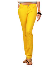 Fungus Women Denim Jeans - FLD-006, Yellow, 32