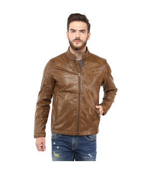 Regular Solid Jacket,  tan, xl