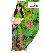 Vamika Printed Georgette Saree-VMS0093, Multicolor